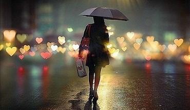 Картинка девушка со спины с зонтиком