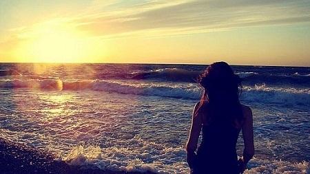 На закате солнца спина на аву фото