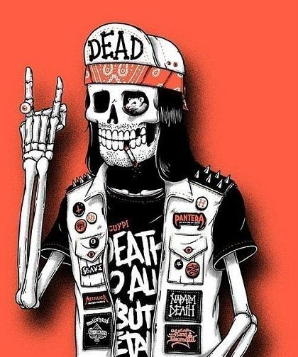 Панк скелет фото на аву